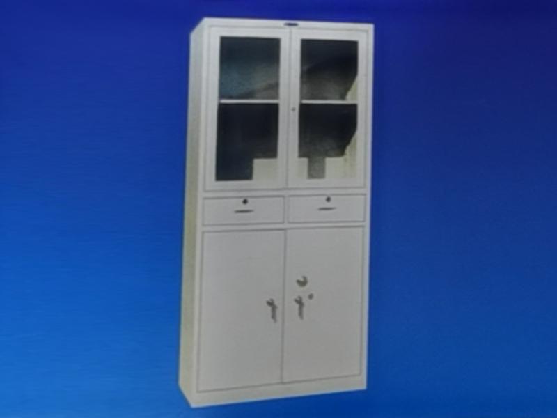 盘锦二屉对开门玻璃柜