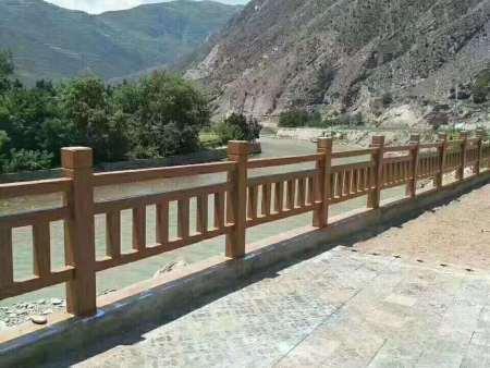 兰州水泥仿木护栏