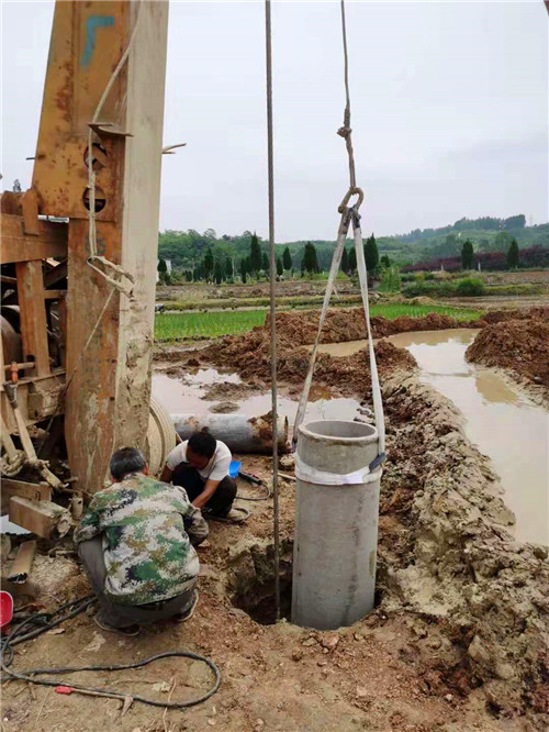 汉中洋县李家村深水井施工