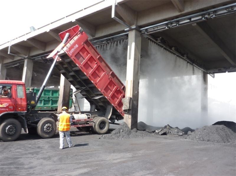 貨車卸料坑干霧抑塵裝置