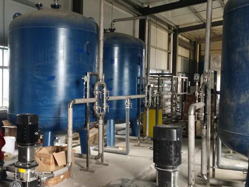 50吨/小时纯净水设备安装现场